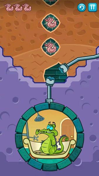 小鳄鱼爱洗澡游戏