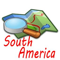 南美洲地图中文版