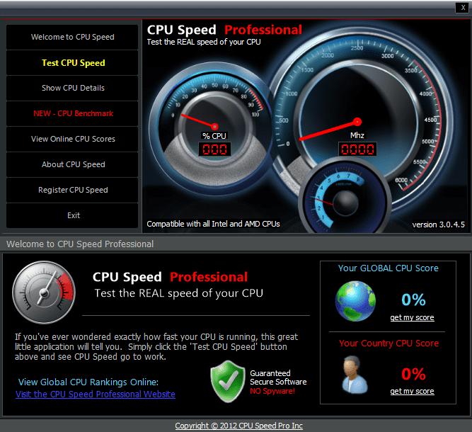 cpu speed professional电脑版