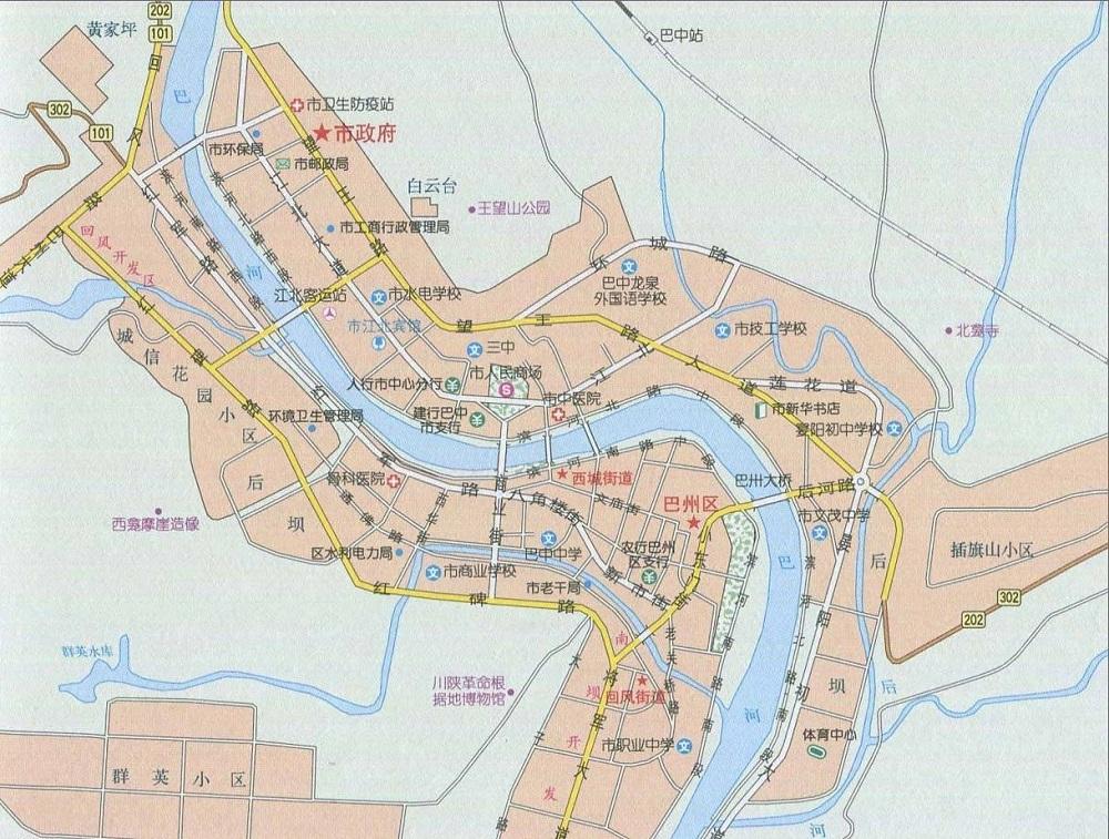 巴中地图大图版
