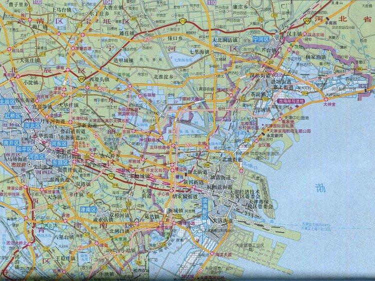 天津滨海新区地图高清版 电脑版 图0